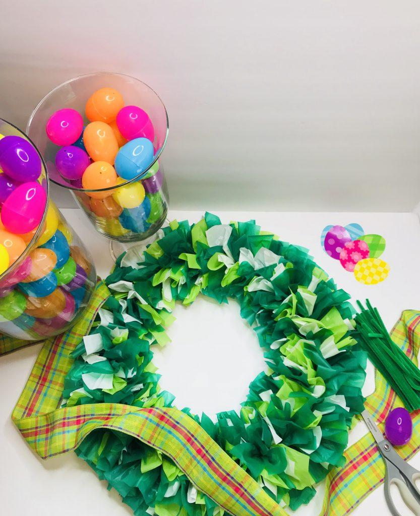 Plastic Tablecloth Egg Wreath C Whimsy