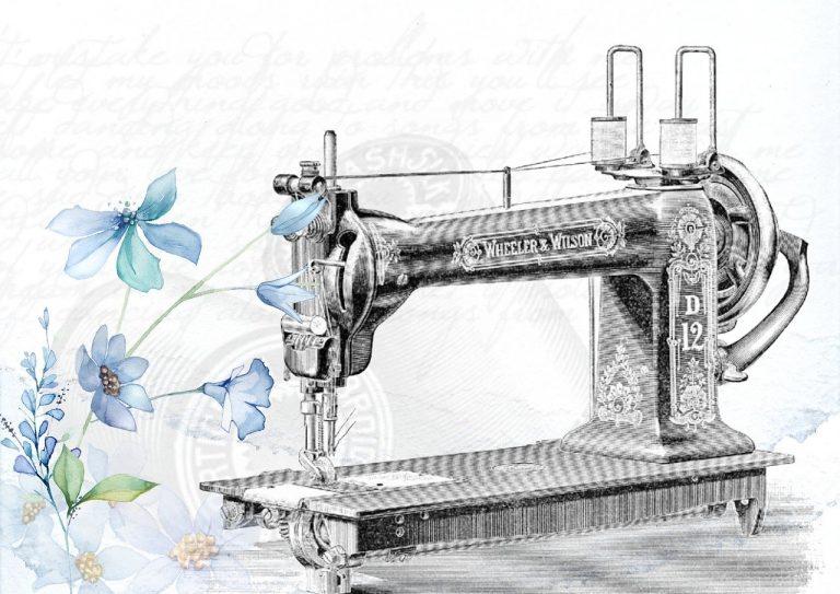 vintage, sewing machine, sew